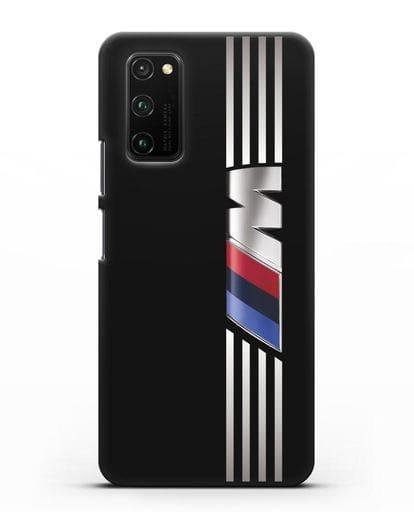 Чехол с символикой BMW M серия силикон черный для Honor View 30 Pro