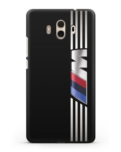 Чехол с символикой BMW M серия силикон черный для Huawei Mate 10
