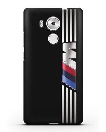 Чехол с символикой BMW M серия силикон черный для Huawei Mate 8