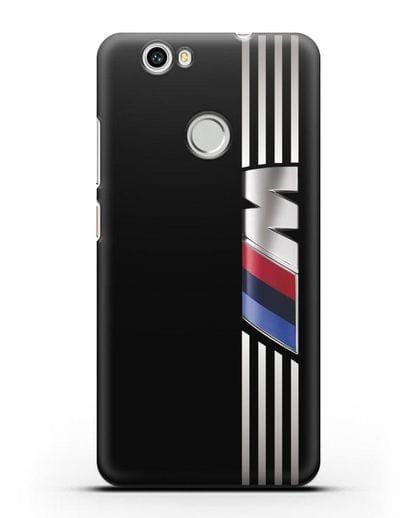 Чехол с символикой BMW M серия силикон черный для Huawei Nova