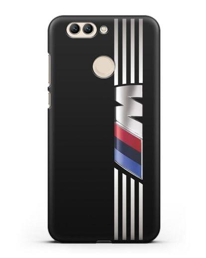 Чехол с символикой BMW M серия силикон черный для Huawei Nova 2 Plus