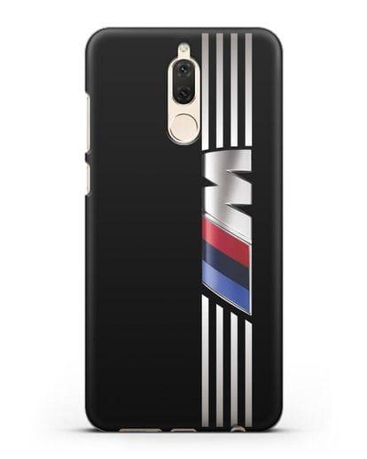 Чехол с символикой BMW M серия силикон черный для Huawei Nova 2