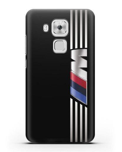 Чехол с символикой BMW M серия силикон черный для Huawei Nova Plus