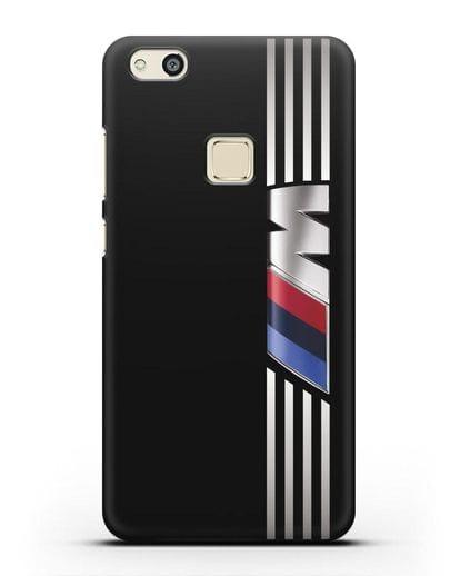 Чехол с символикой BMW M серия силикон черный для Huawei P10 Lite