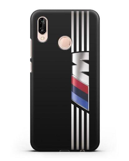 Чехол с символикой BMW M серия силикон черный для Huawei P20 Lite