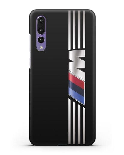 Чехол с символикой BMW M серия силикон черный для Huawei P20 Pro