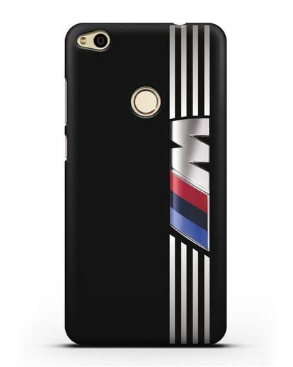 Чехол с символикой BMW M серия силикон черный для Huawei P8 Lite 2017