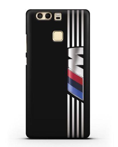 Чехол с символикой BMW M серия силикон черный для Huawei P9 Plus