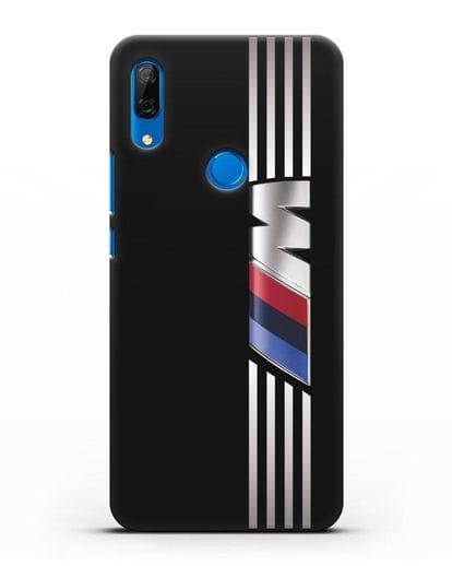 Чехол с символикой BMW M серия силикон черный для Huawei P Smart Z