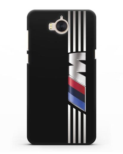 Чехол с символикой BMW M серия силикон черный для Huawei Y5 2017