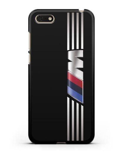 Чехол с символикой BMW M серия силикон черный для Huawei Y5 Prime 2018