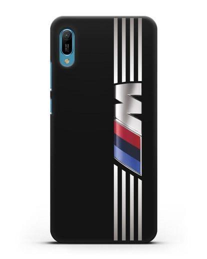 Чехол с символикой BMW M серия силикон черный для Huawei Y6 2019
