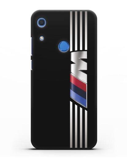 Чехол с символикой BMW M серия силикон черный для Huawei Y6s