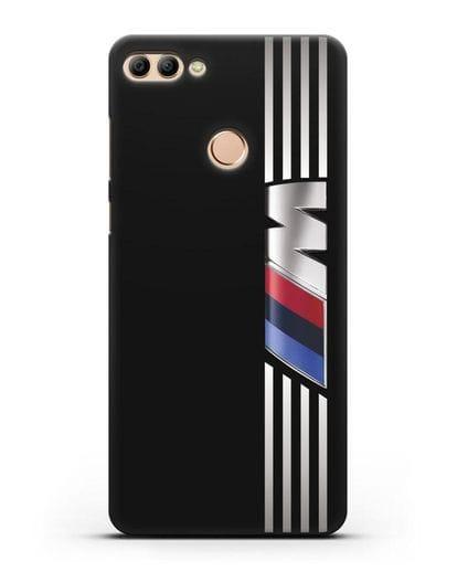 Чехол с символикой BMW M серия силикон черный для Huawei Y9 2018
