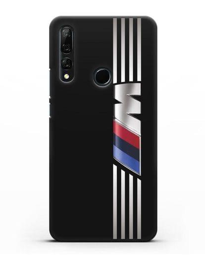 Чехол с символикой BMW M серия силикон черный для Huawei Y9 Prime 2019