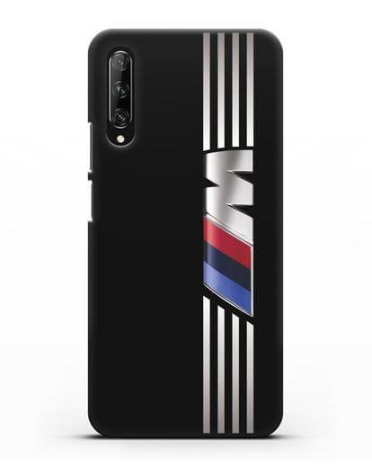 Чехол с символикой BMW M серия силикон черный для Huawei Y9s