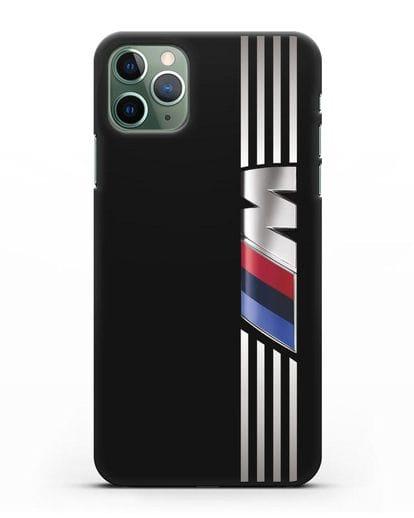 Чехол с символикой BMW M серия силикон черный для iPhone 11 Pro