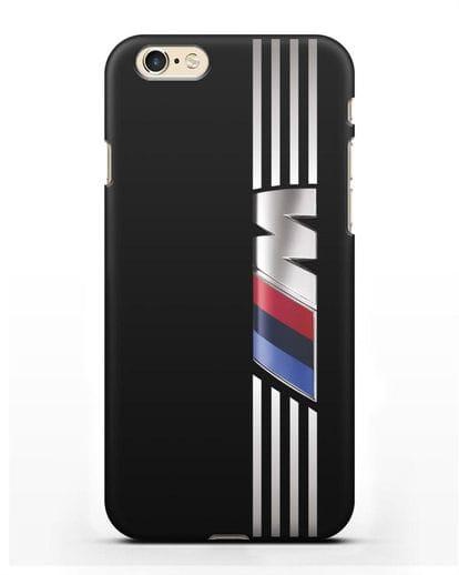 Чехол с символикой BMW M серия силикон черный для iPhone 6s
