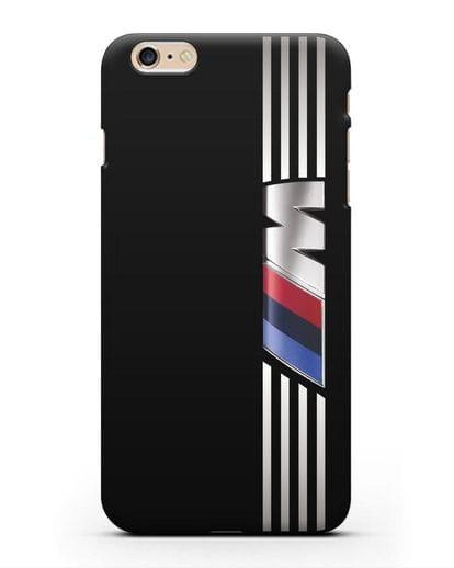 Чехол с символикой BMW M серия силикон черный для iPhone 6s Plus