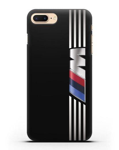 Чехол с символикой BMW M серия силикон черный для iPhone 8 Plus
