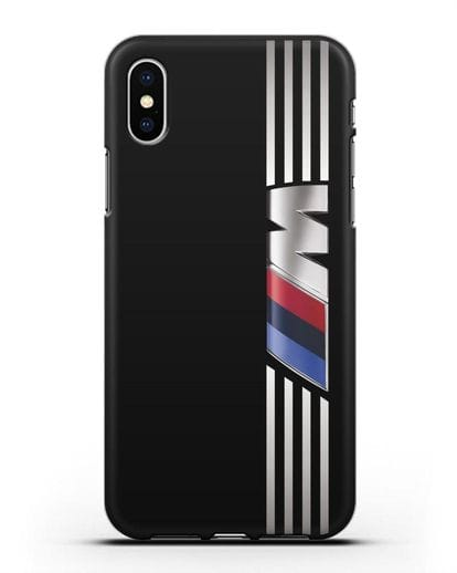 Чехол с символикой BMW M серия силикон черный для iPhone XS