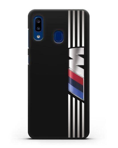 Чехол с символикой BMW M серия силикон черный для Samsung Galaxy A20 [SM-A205FN]