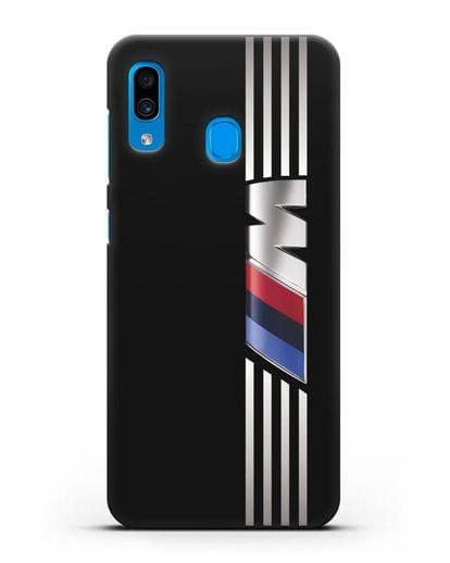 Чехол с символикой BMW M серия силикон черный для Samsung Galaxy A30 [SM-A305FN]