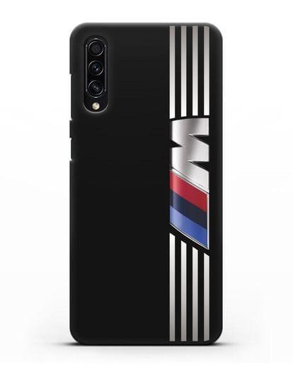 Чехол с символикой BMW M серия силикон черный для Samsung Galaxy A50s [SM-F507FN]