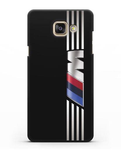 Чехол с символикой BMW M серия силикон черный для Samsung Galaxy A7 2016 [SM-A710F]