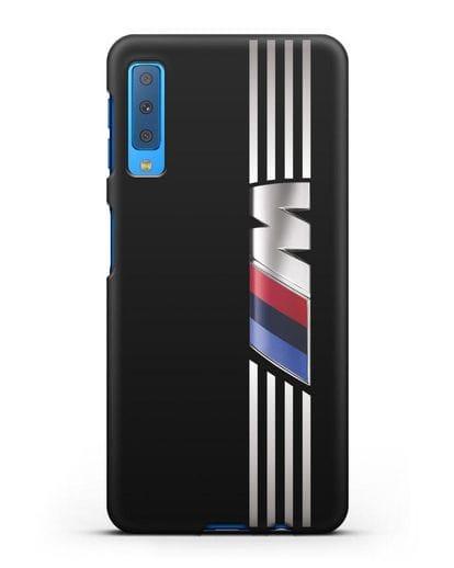 Чехол с символикой BMW M серия силикон черный для Samsung Galaxy A7 2018 [SM-A750F]