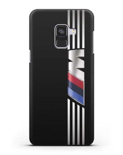 Чехол с символикой BMW M серия силикон черный для Samsung Galaxy A8 [SM-A530F]