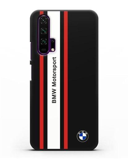 Чехол BMW Motorsport силикон черный для Honor 20 Pro