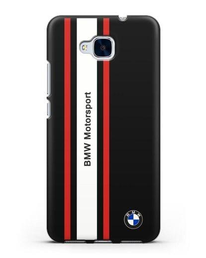 Чехол BMW Motorsport силикон черный для Honor 5C