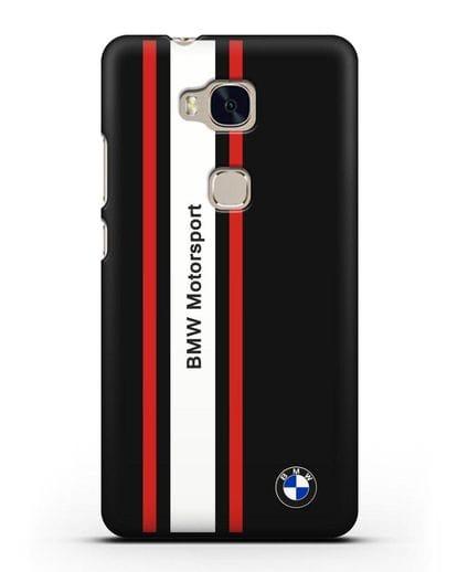 Чехол BMW Motorsport силикон черный для Honor 5X