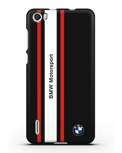 Чехол BMW Motorsport силикон черный для Honor 6