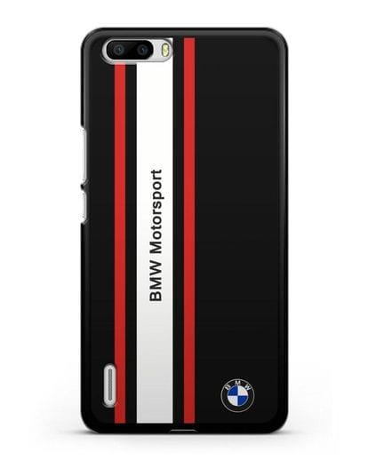 Чехол BMW Motorsport силикон черный для Honor 6 Plus