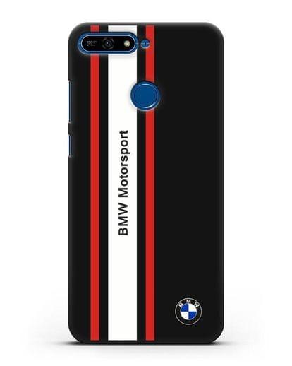 Чехол BMW Motorsport силикон черный для Honor 7А Pro