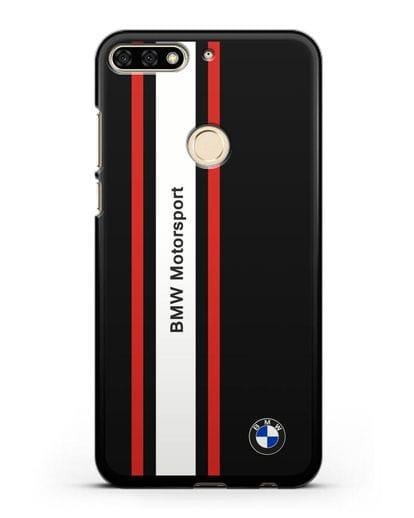 Чехол BMW Motorsport силикон черный для Honor 7C
