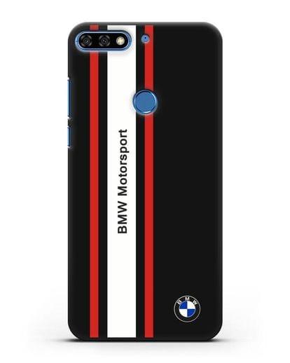 Чехол BMW Motorsport силикон черный для Honor 7C Pro
