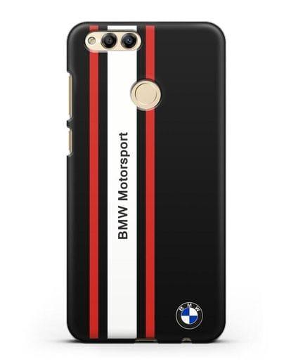 Чехол BMW Motorsport силикон черный для Honor 7X