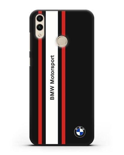 Чехол BMW Motorsport силикон черный для Honor 8C