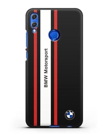 Чехол BMW Motorsport силикон черный для Honor 8X