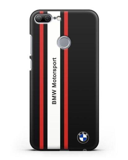 Чехол BMW Motorsport силикон черный для Honor 9 Lite