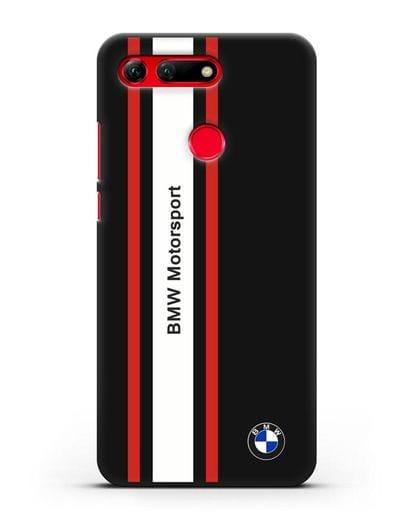 Чехол BMW Motorsport силикон черный для Honor View 20