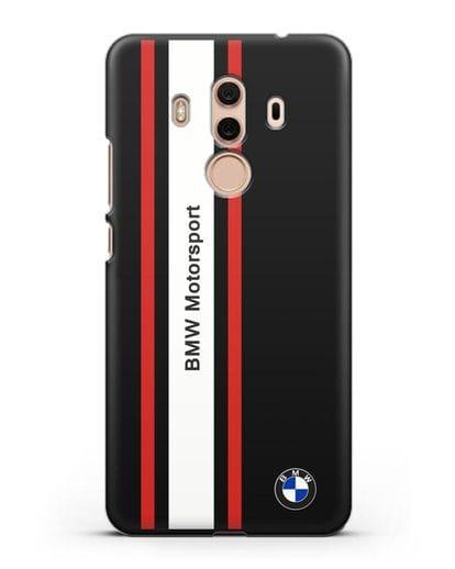 Чехол BMW Motorsport силикон черный для Huawei Mate 10 Pro