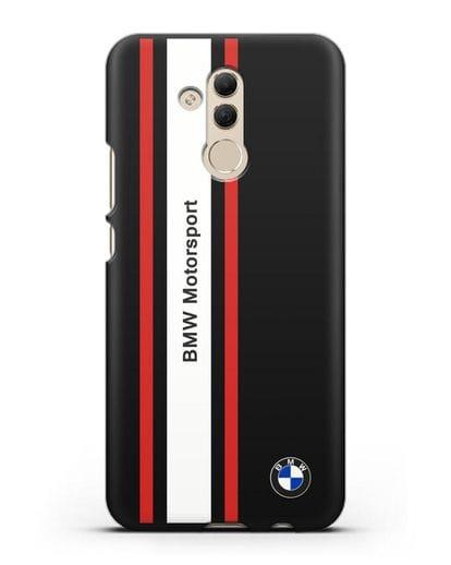 Чехол BMW Motorsport силикон черный для Huawei Mate 20 Lite