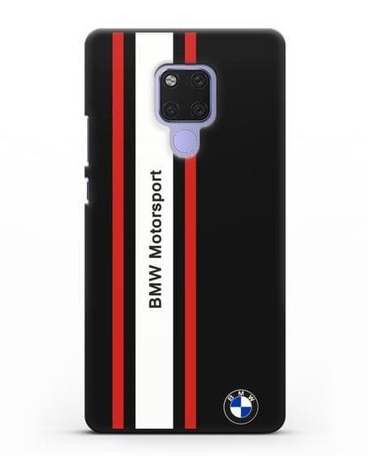 Чехол BMW Motorsport силикон черный для Huawei Mate 20X
