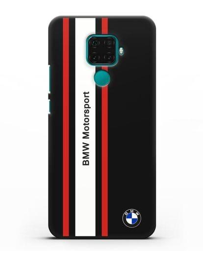 Чехол BMW Motorsport силикон черный для Huawei Mate 30 Lite