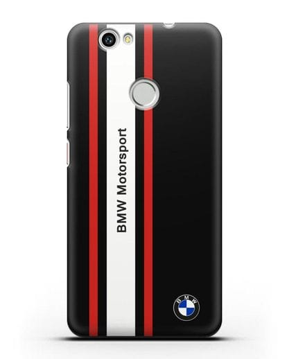 Чехол BMW Motorsport силикон черный для Huawei Nova
