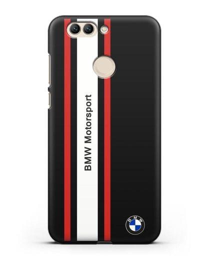 Чехол BMW Motorsport силикон черный для Huawei Nova 2 Plus